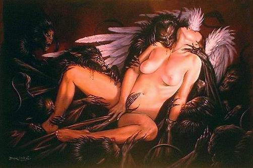 Demons having sex with people